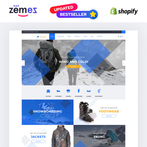 Extreme - Shopify Template based on Bootstrap