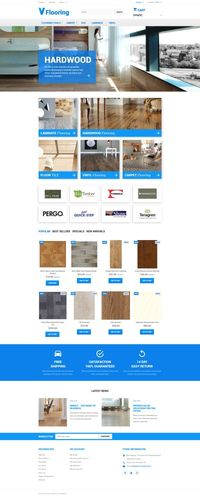 Flooring PrestaShop Theme