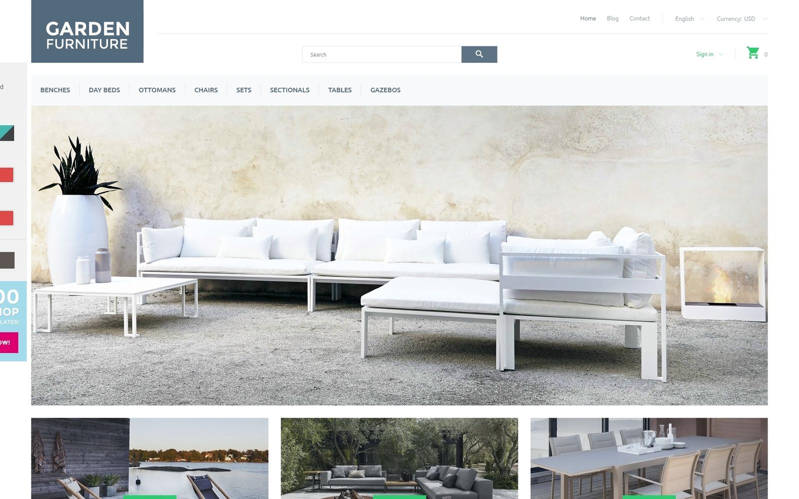 """Garden Furniture"" - адаптивний PrestaShop шаблон №58023"