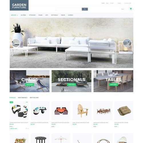 Garden Furniture - PrestaShop Template based on Bootstrap