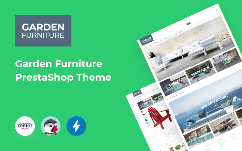 """Garden Furniture"" Responsive PrestaShop Thema №58023"