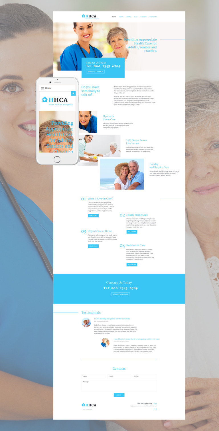 Home Health Care Agency Joomla Template New Screenshots BIG