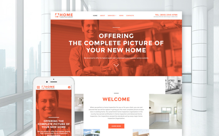 Home Inspector Responsive Website Template New Screenshots BIG