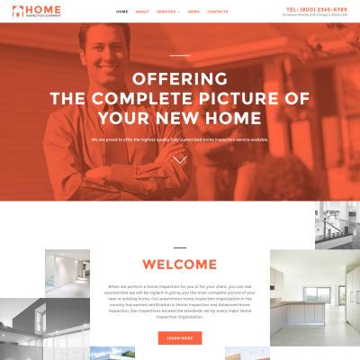 Home Inspector Responsive Website Template #58002