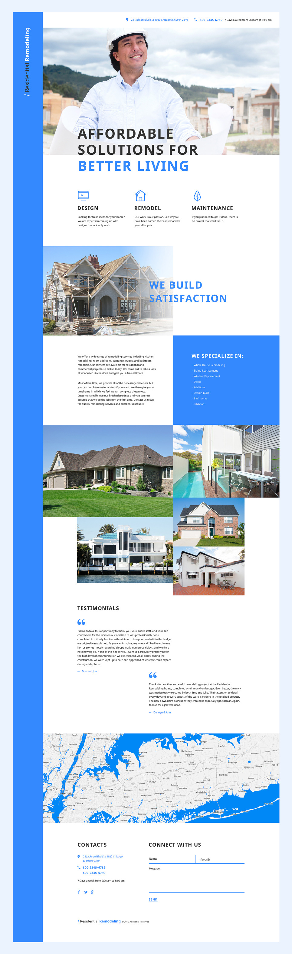 Home Remodeling Landing Page Template New Screenshots BIG