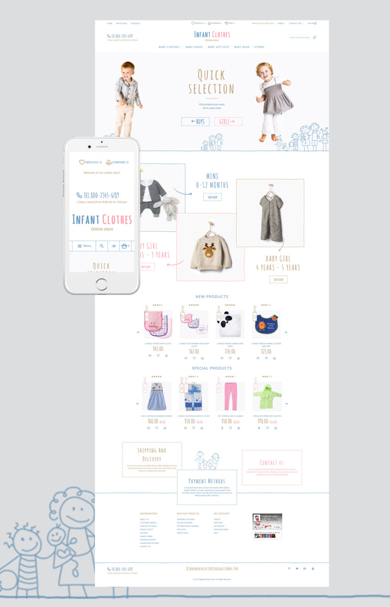 Infant Clothes Magento Theme New Screenshots BIG