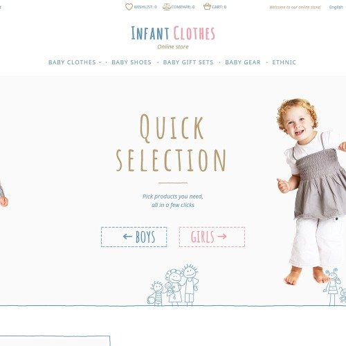 Infant Clothes - Magento Template based on Bootstrap