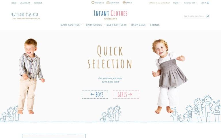 Infant Clothes Magento Theme New Screenshots BIG