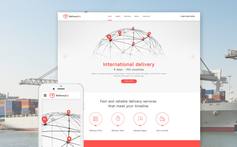 International Delivery Website Template