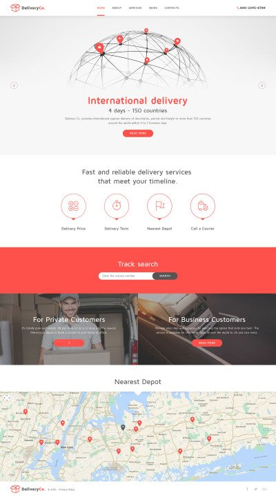 Delivery Services Website Templates | Templatemonster