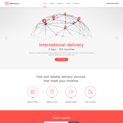 DeliveryCo. - Responsive Website Template