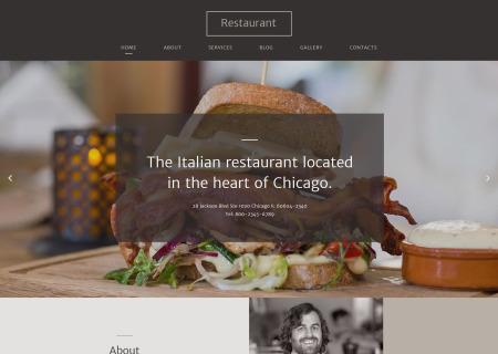 Italian cuisine site template
