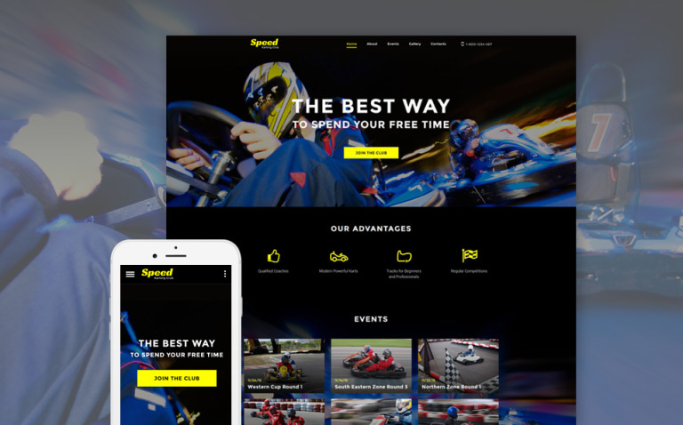 Karting Responsive Website Template New Screenshots BIG