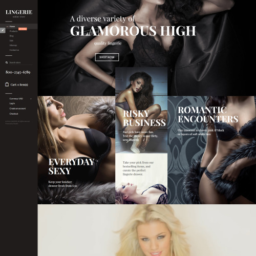 Lingerie - Responsive Shopify Template