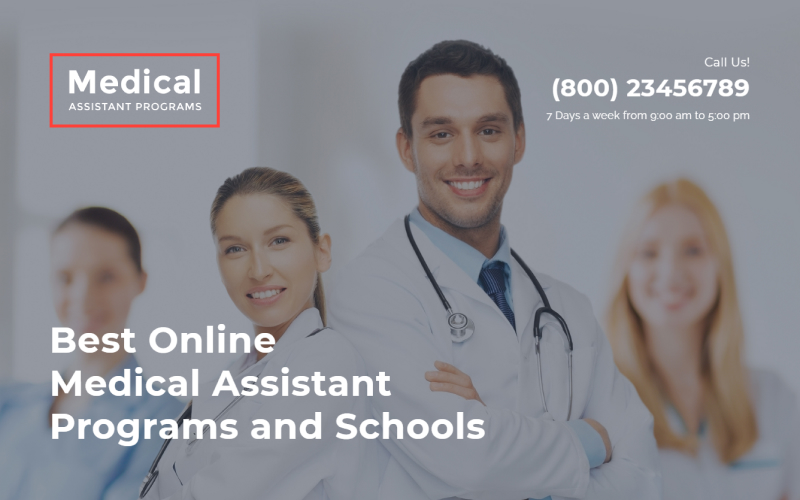 """Medical Assistance Program - Medical School Clean HTML"" 响应式着陆页模板 #58055"