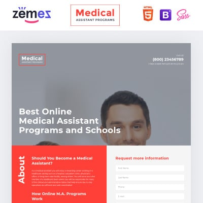 Medical Landing Page Templates TemplateMonster - Medical landing page template