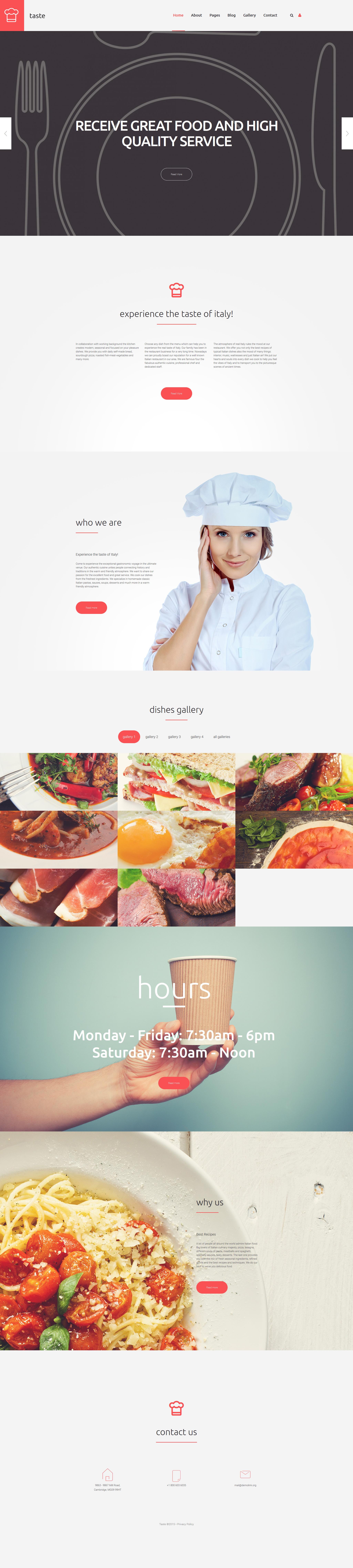 modello joomla responsive 58019 per un sito di cucina