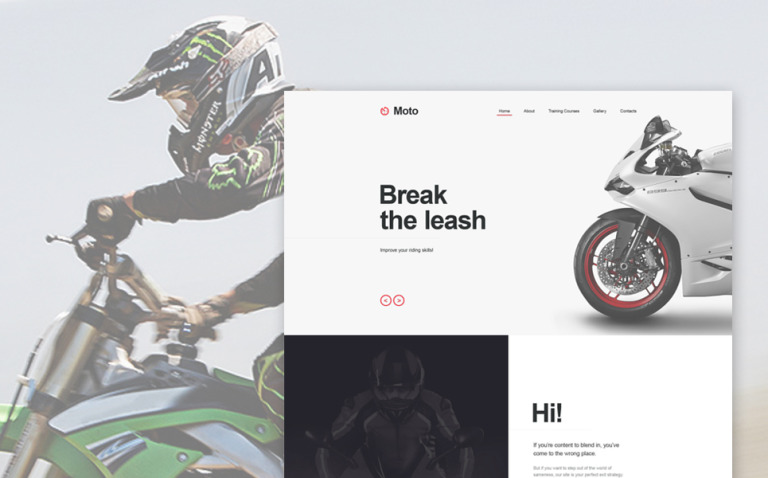 Motor Sports Muse Template New Screenshots BIG