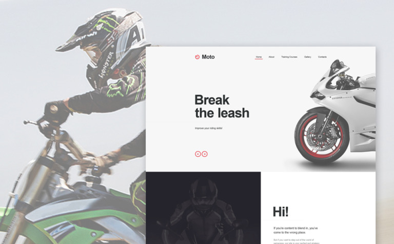 Motor Sports Muse Template