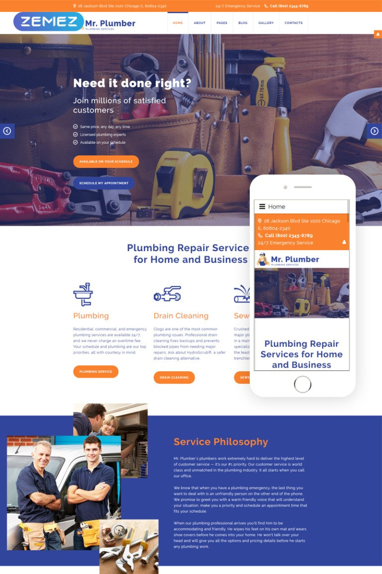 Mr. Plumber Joomla Template New Screenshots BIG