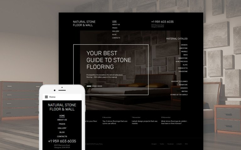 Natural Stone Floor Joomla Template New Screenshots BIG