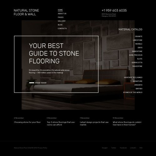 Natural Stone Floor & Wall - Joomla! Template based on Bootstrap