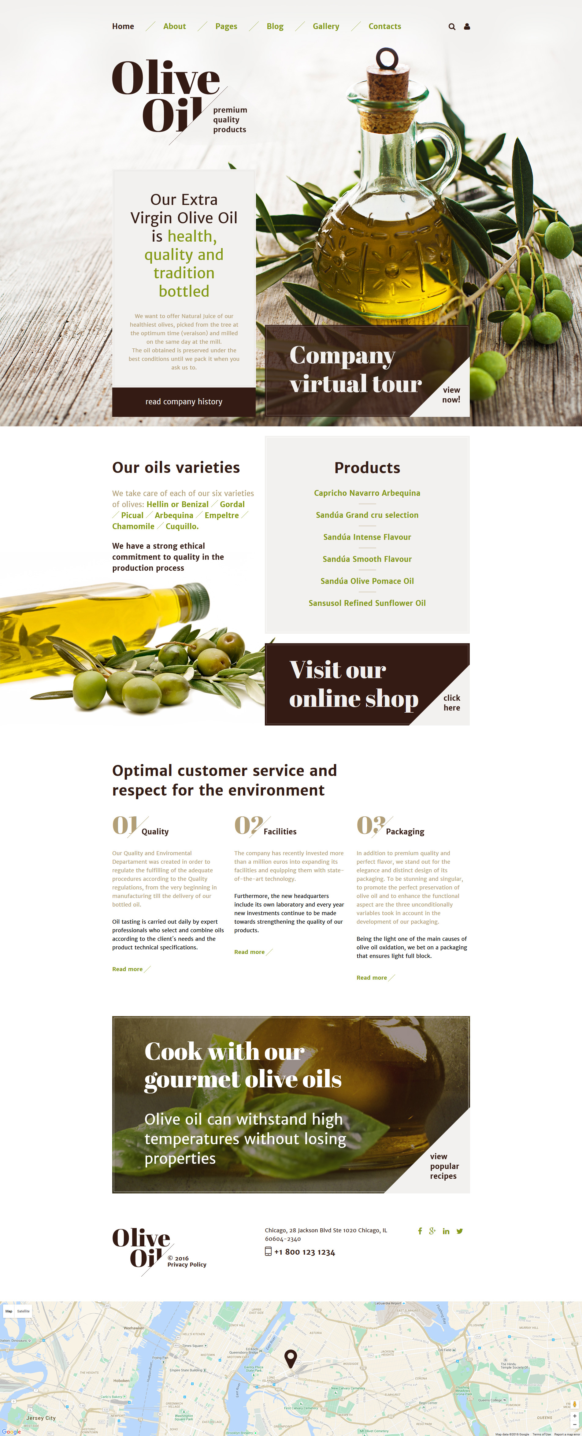 Olive Oil Joomla Template - screenshot