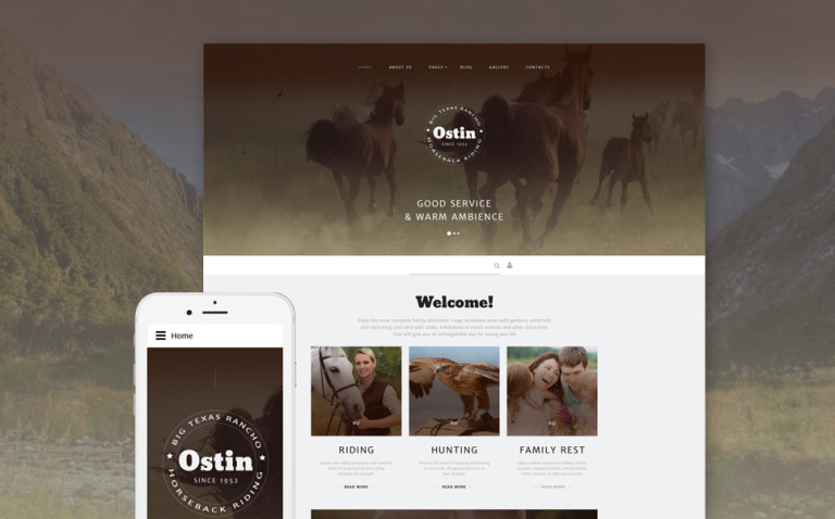 Ostin Joomla Template New Screenshots BIG