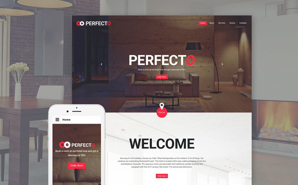 Lodging Web Template - What website template is this
