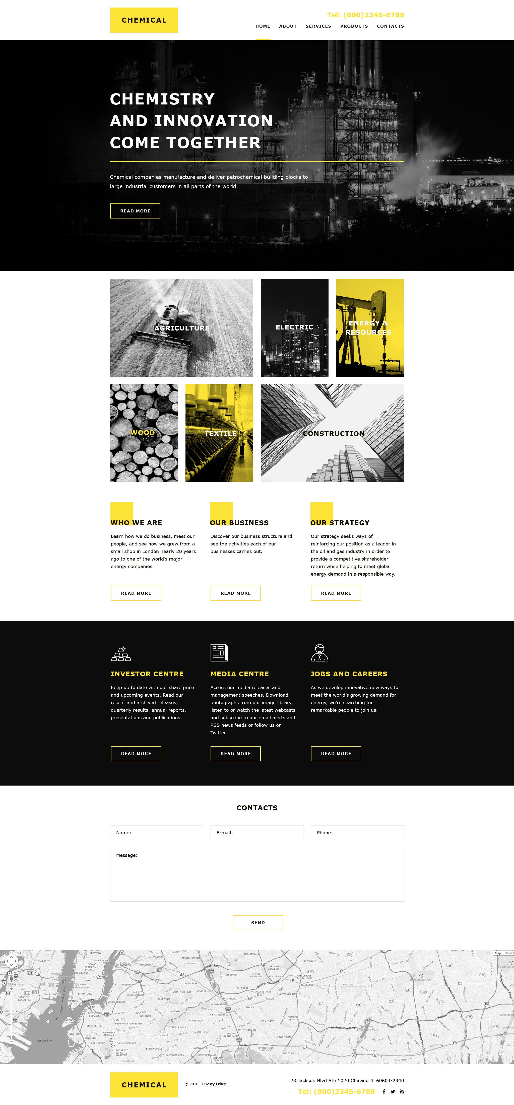Plantilla Muse #58041 para Sitio de Industria - captura de pantalla