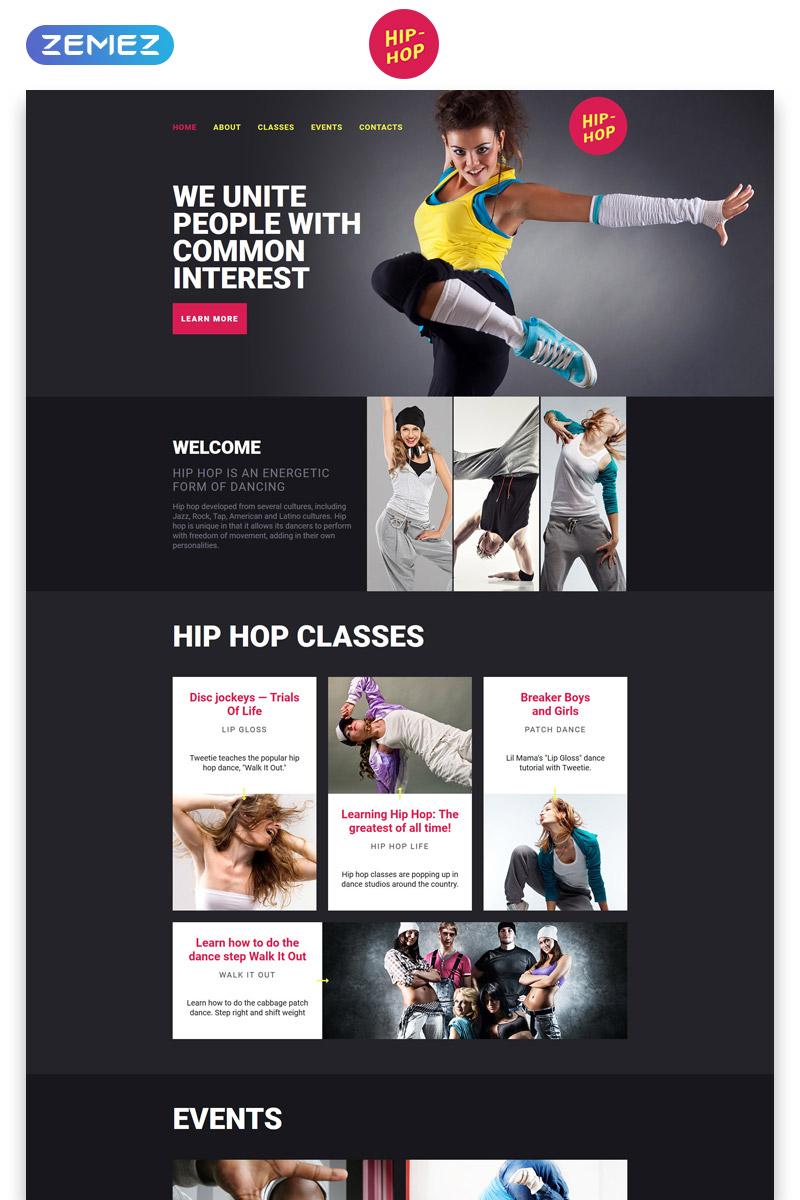"""Plantilla Para Página De Aterrizaje """"Hip-Hop - Dance Studio Creative HTML"""" #58029"""