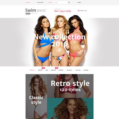 "PrestaShop шаблон ""Swimwear"" #58048"