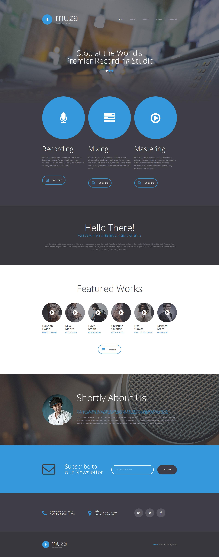 Recording Studio Responsive Website Template - screenshot