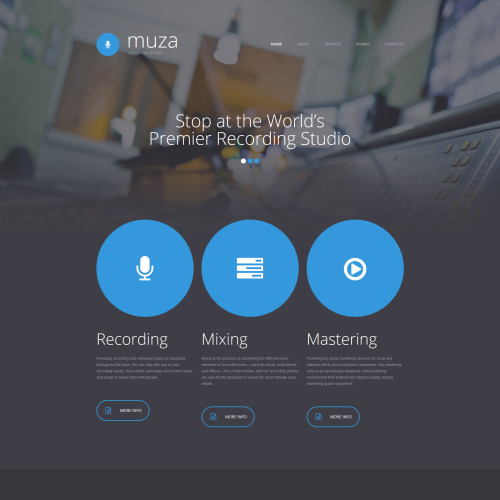 Muza - Website Template based on Bootstrap