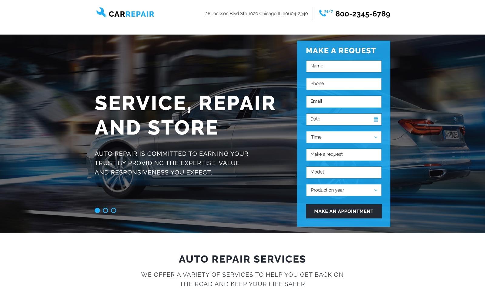 Responsive Araba Tamiri Açılış Sayfası #58068