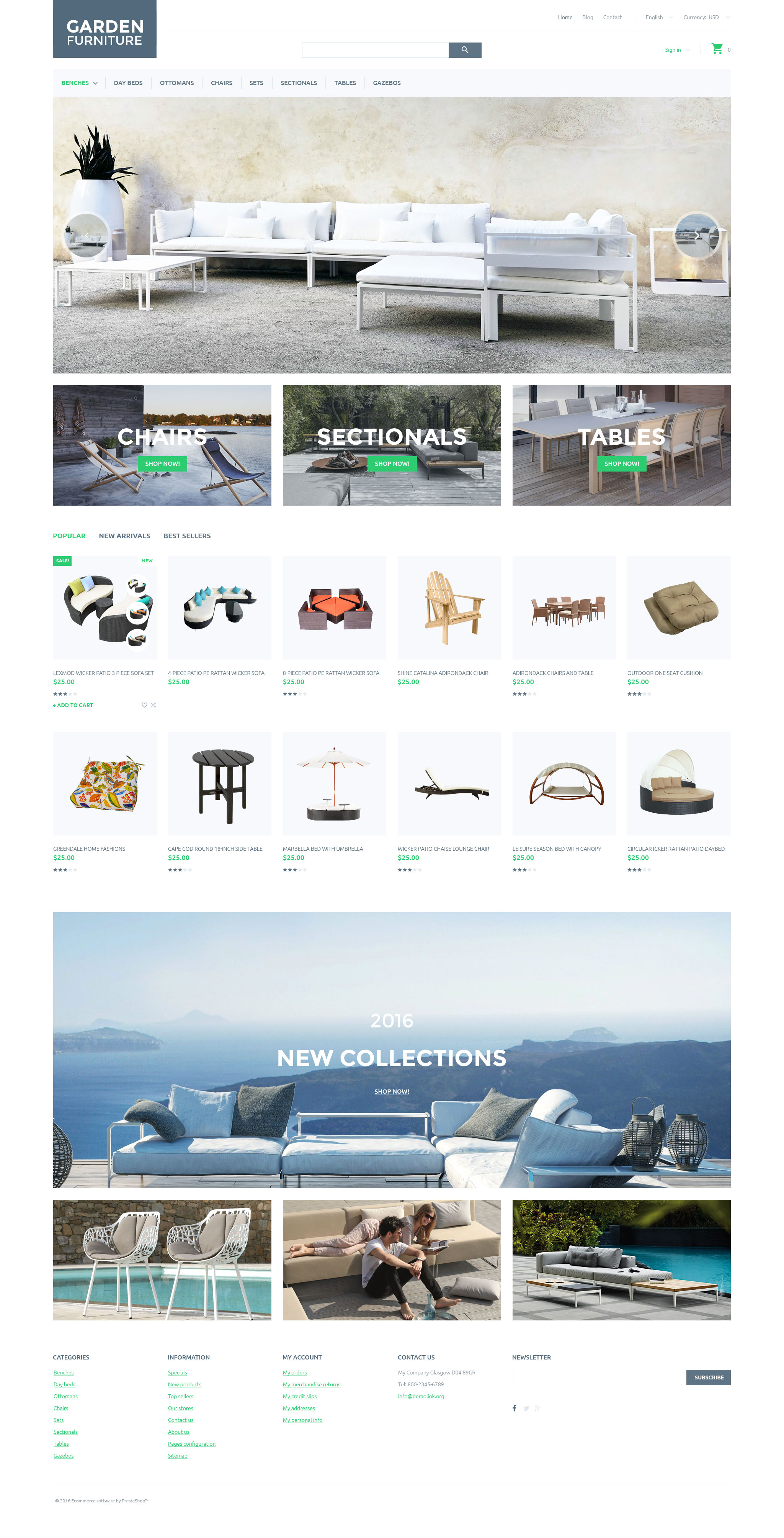Responsive Garden Furniture Prestashop #58023