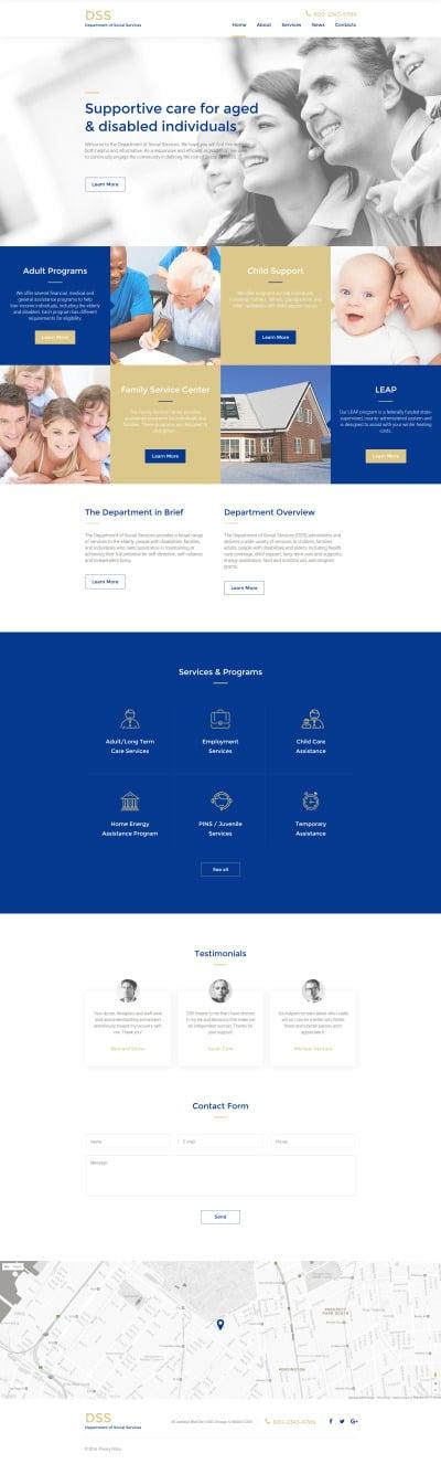 Social Foundation Responsive Web Sitesi Şablonu