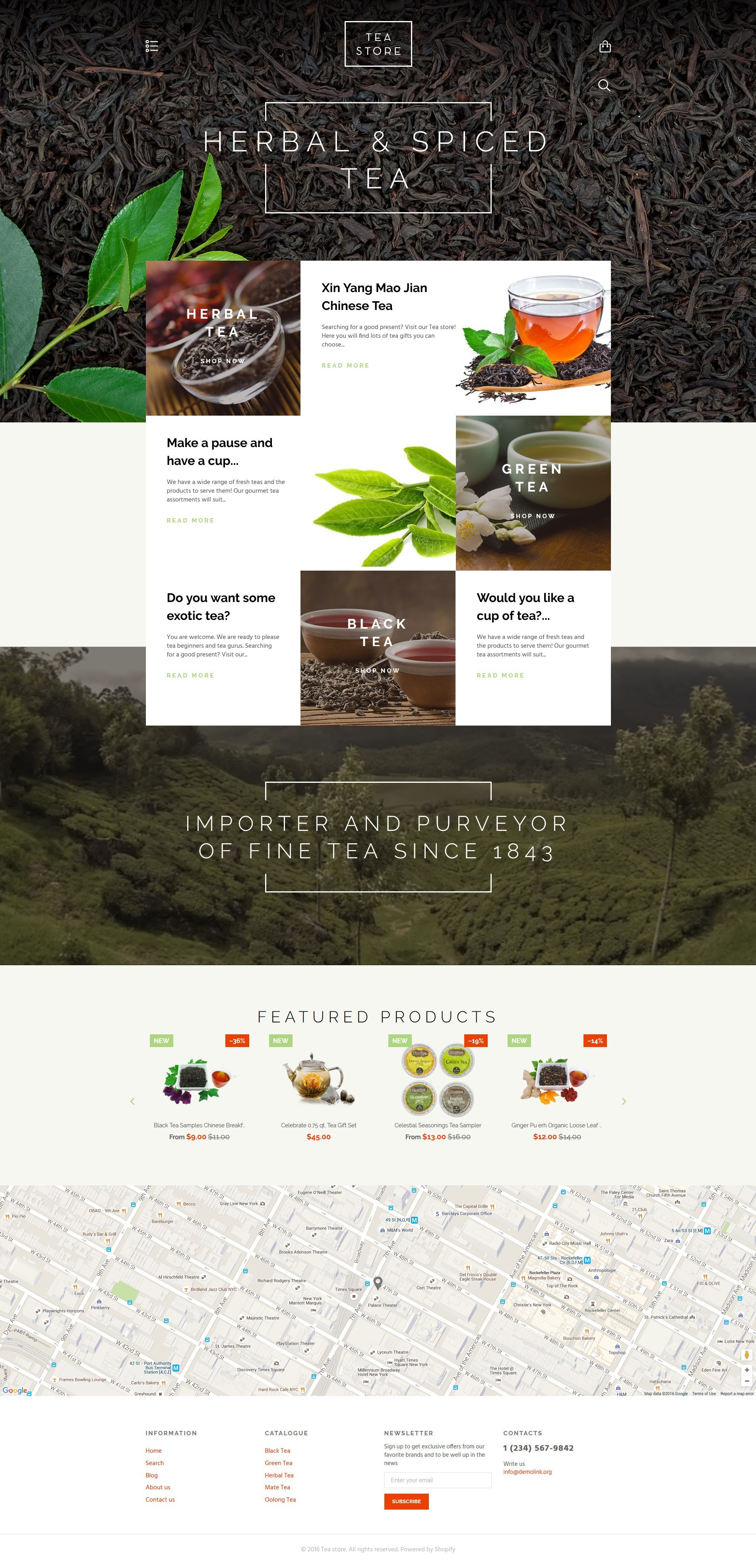 Responsive Tea Store Shopify #58028