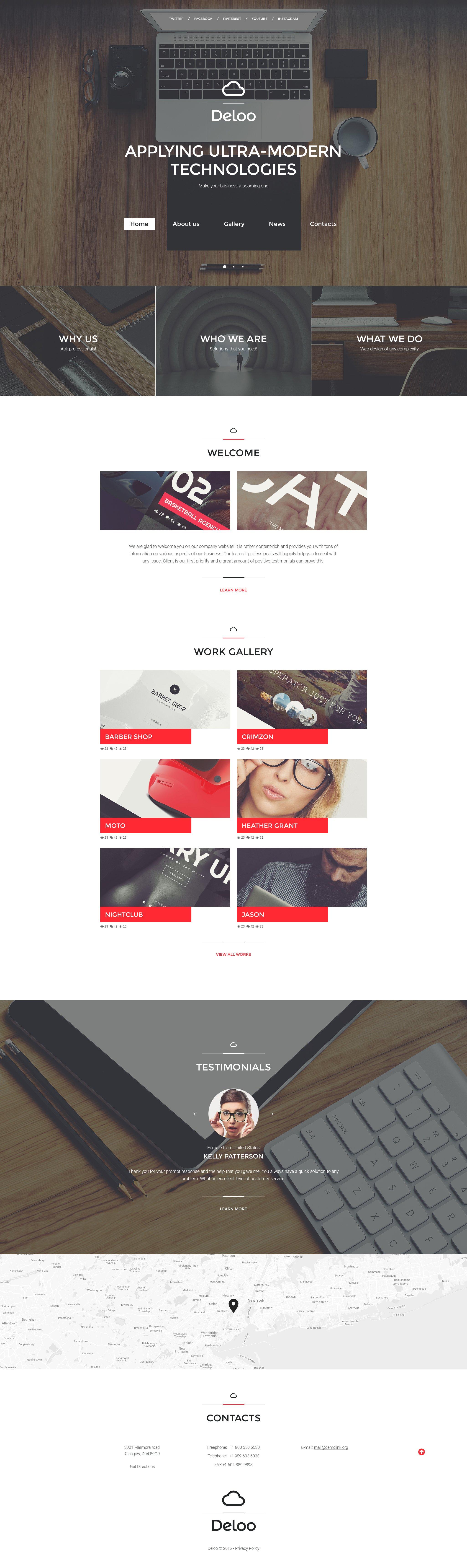Responsive Website template over Web Design №58092