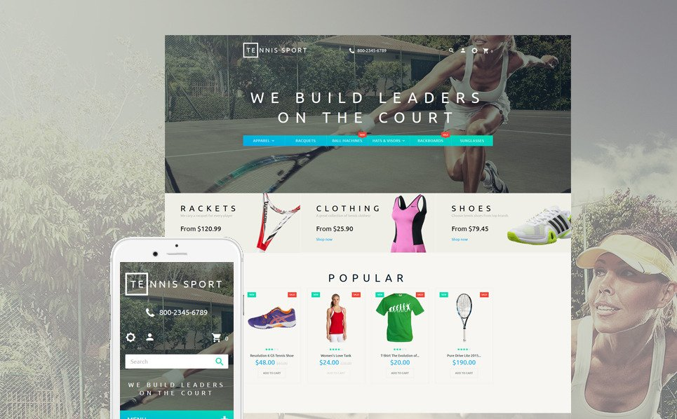 Responsives PrestaShop Theme für Tennis  New Screenshots BIG
