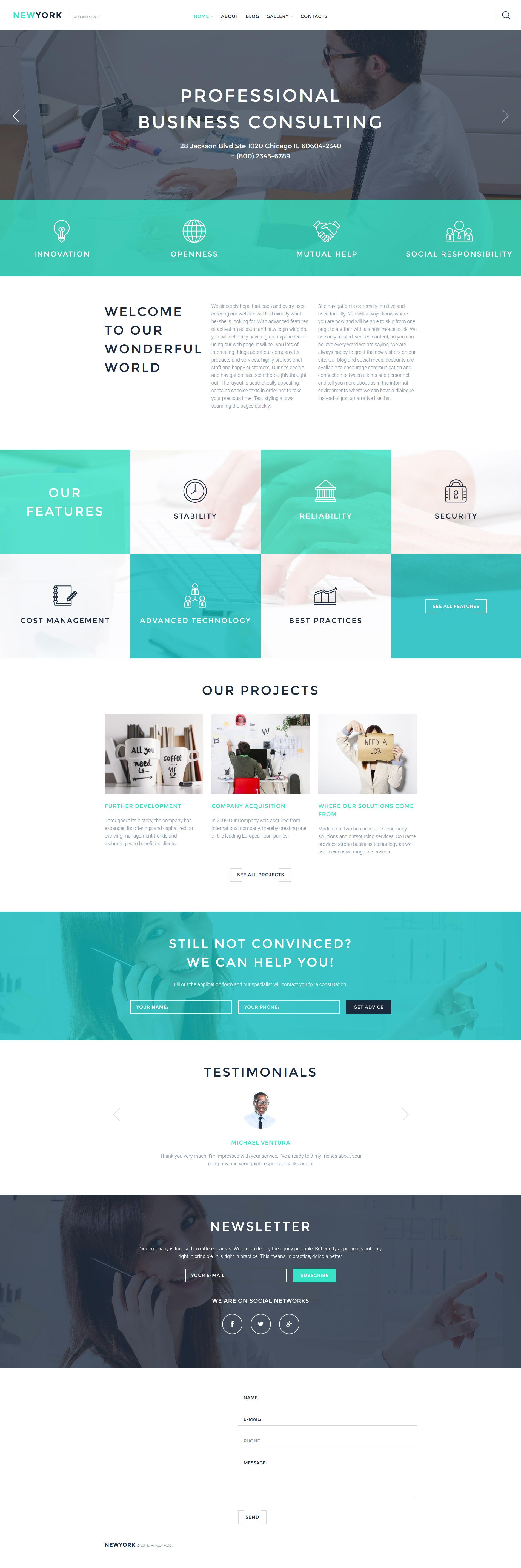 Responsywny motyw WordPress #58090 na temat: biznes i usługi - zrzut ekranu