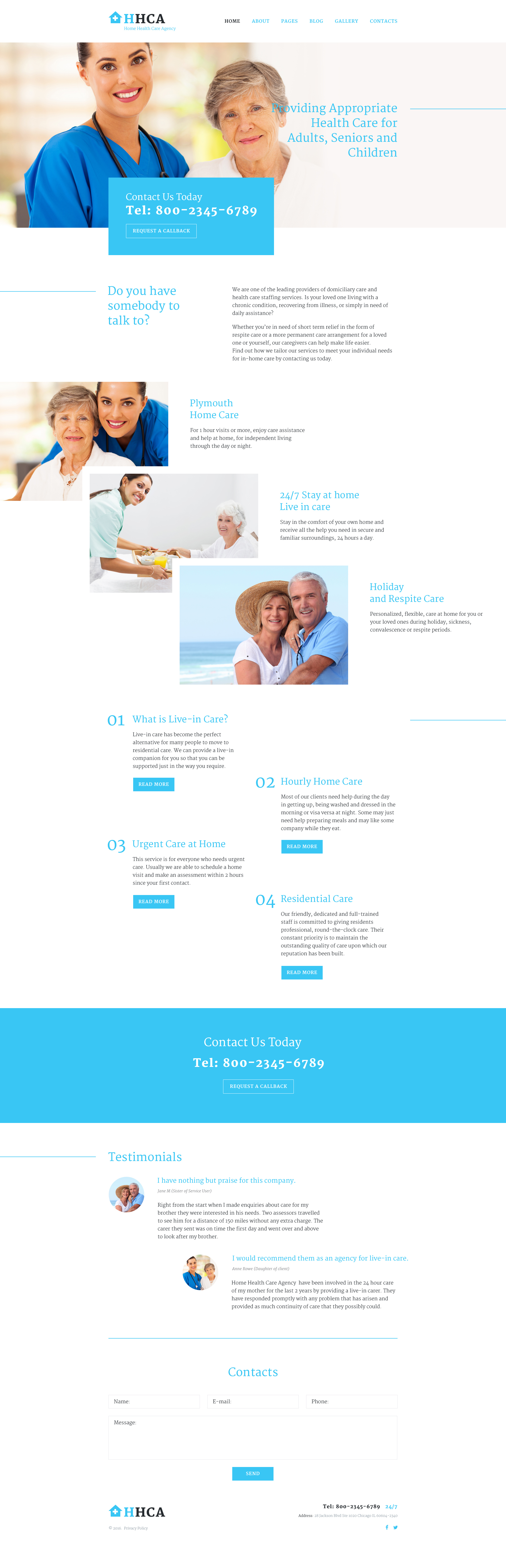 Responsywny szablon Joomla Home Health Care Agency #58033