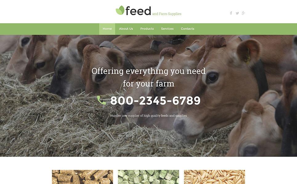 Responsywny szablon strony www #58074 na temat: gospodarstwo rolne New Screenshots BIG