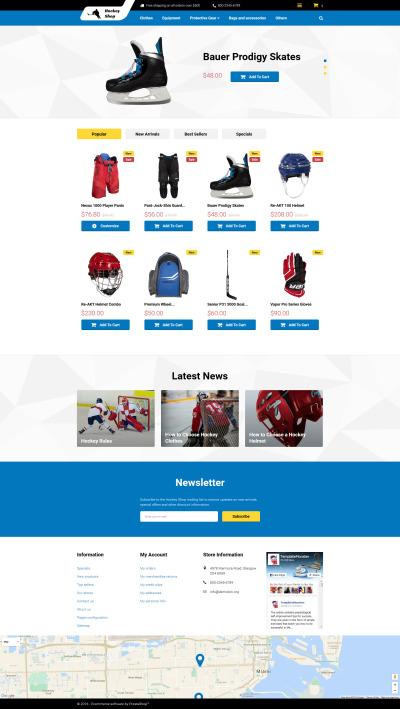 Hockey Responsive PrestaShop Motiv