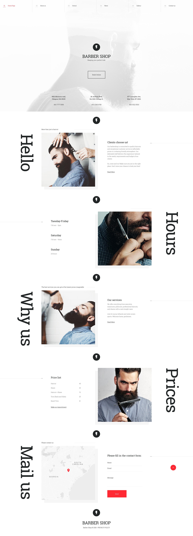 Reszponzív Barber Shop Weboldal sablon 58087