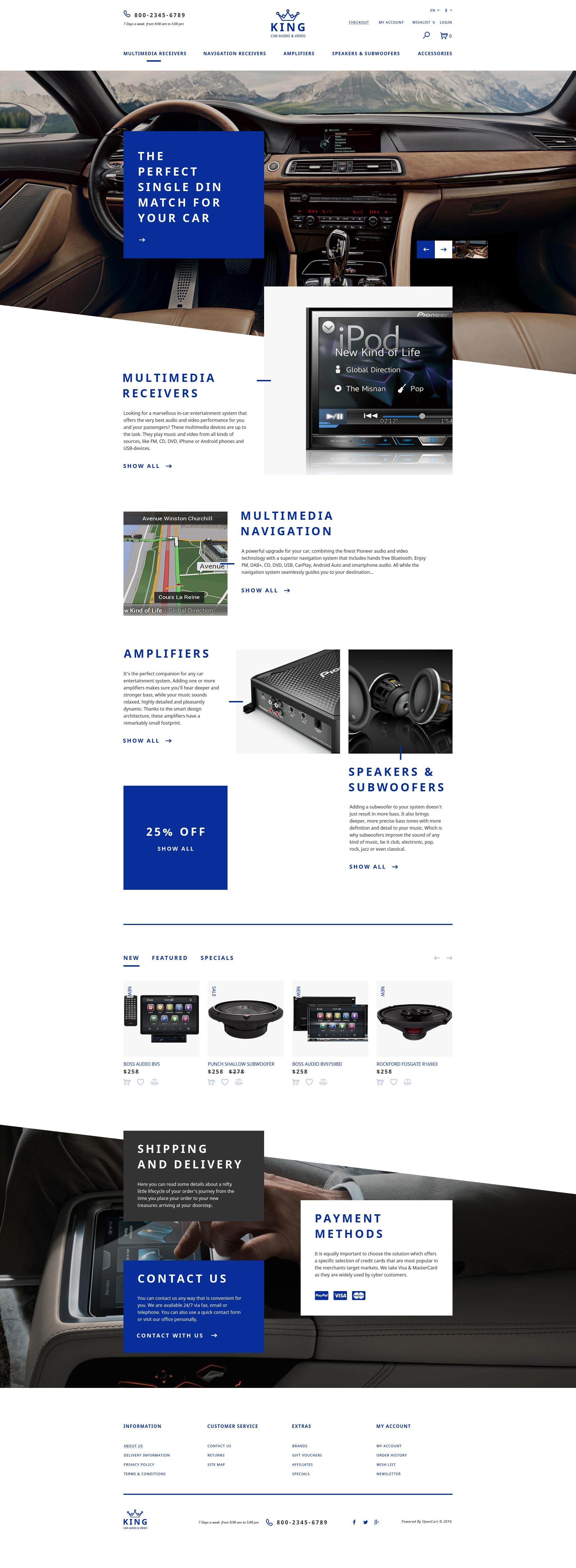Reszponzív Car Audio  Video OpenCart sablon 58049
