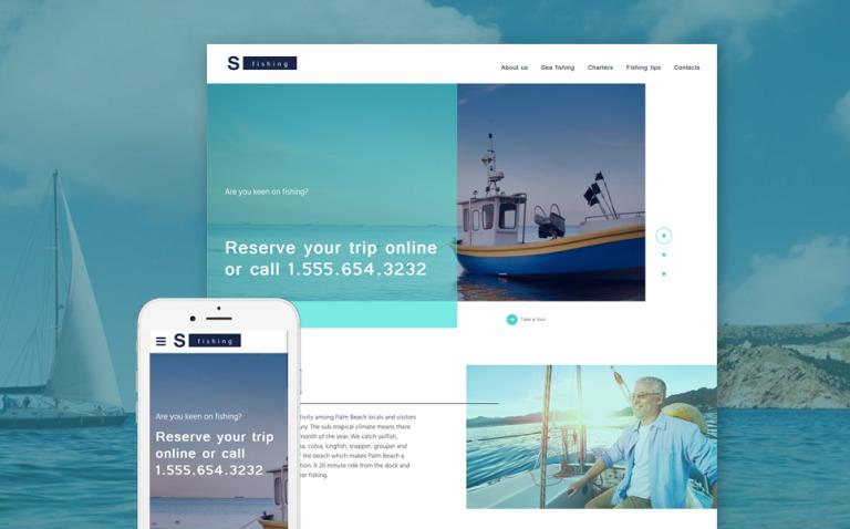 S Fishing Website Template New Screenshots BIG