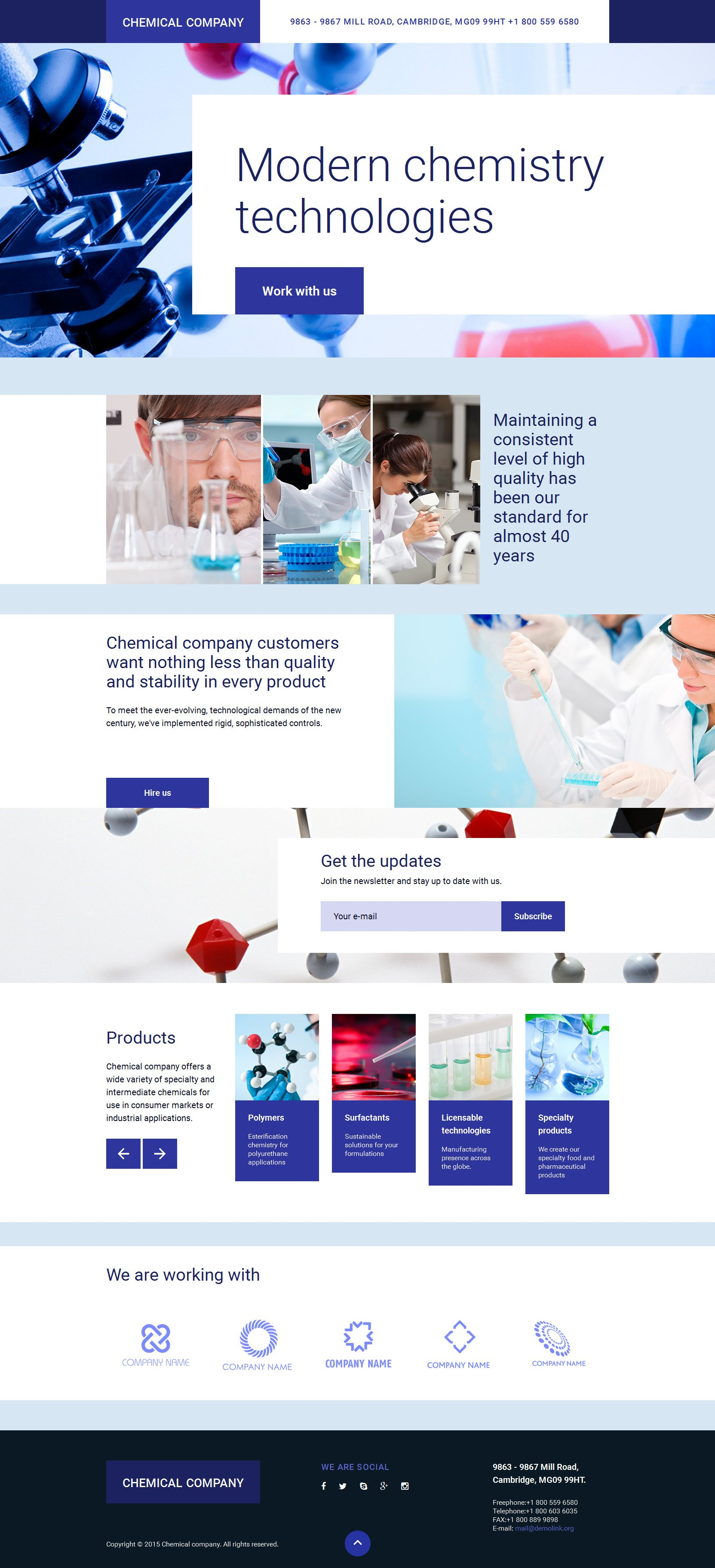 Science Lab Responsive Landing Page Template