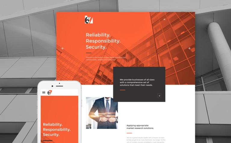 Six Website Template New Screenshots BIG