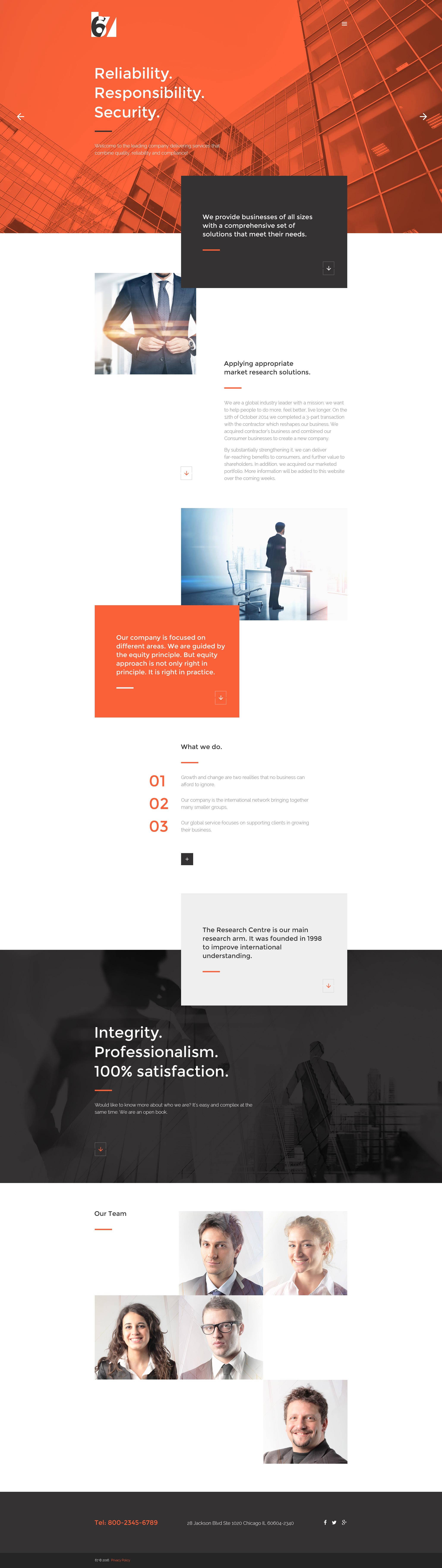 Six Website Template - screenshot